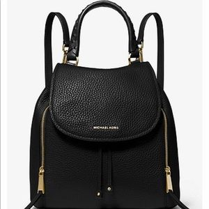 Authentic Michael Kors Viv Large Leather Backpack